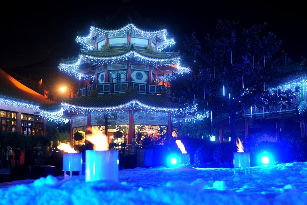Phantasialand-Winter im Themenbereich China Town